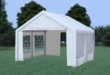 4x4 m Partyzelt Festzelt Bierzelt Pavillon inkl Seitenteile PVC weiß