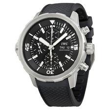 IWC Aquatimer Chronograph Black Dial Black Rubber Mens Watch IW376803