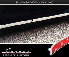 AUDI A6 C6 Typ 4F Limousine und Avant Chrom Zierleisten 3M Türleisten 4 Stk