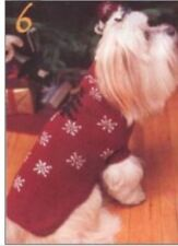"KNITTING PATTERN - DOG COAT CHRISTMAS TREE & SNOWFLAKE MOTIFS 6 SIZES 9"" - 26"""