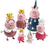 Peppa Pig Princesa de Peppa Real Familia Figuras Figura Set De 6