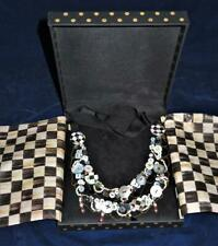 Mackenzie Childs Button Necklace, w/ Original Box
