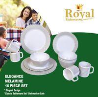 ROYAL Melamine Dinner Set 16 pce Elegance Caravan Camping Home Boat JAYCO PARTS