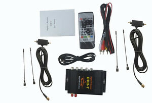 Car Mobile Digital HD DVB-T Mpeg2 Mpeg4 TV Receiver Box Tuner Dual Antenna