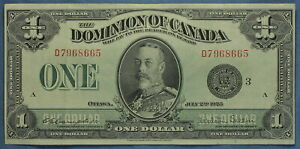 1923 - Dominion of Canada - 1 $  Note  - DC-25n  Campbell-Sellar