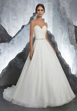 Mori Lee 5611 Size 12 GENUINE Wedding Dress Ivory With Tags