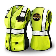 Kwiksafety Roadboss Economy Solid Reflective Tape Safety Vest For Women