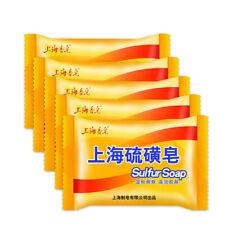 5 Pcs/Set Shanghai Sulfur Soap Skin Condition Care Sterilize Antipruritic Soap