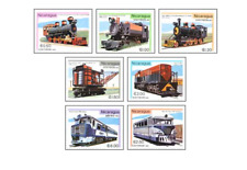 NIC8101 Old and new steam engines 7 pcs MNH NICARAGUA 1981