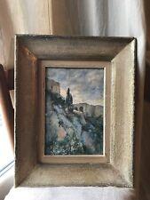 A de Courtois,Aquarelle,Paysage Orientaliste,Fin XIX°.