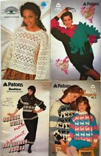 "FAIR ISLE PATTERN PATONS 1089~CHUNKY~SIZE.30/""TO XL ENGL /&FRENCH"