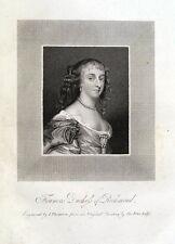 FRANCES STEWART, DUCHESS OF RICHMOND antique portrait print 1819