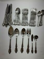Oneida Community stainless flatware set, plantation 45 piece missing 1 spoon