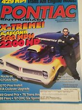 Pontiac Enthusiast Magazine Nov/Dec 2002 67 OHC Six Sprint 76 Trans am