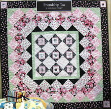 FRIENDSHIP TEA QUILT KIT - Includes Pattern & Fabric / Red Rooster / Teacups