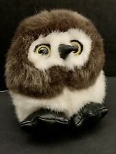 """Vintage Swibco Puffkins """"Olley"""" 4"""" Plush Stuffed Animal /Owl with Tags"""