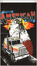 The American Way Truck and Eagle - United States of America USA 5'x3' Flag