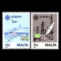 Malta 1988 - EUROPA Stamps - Transportation and Communications - Sc 718/9 MNH
