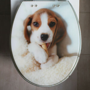 Cute Dog Bath Accessories Safety Resin Toilet Seat Nice Decoration Best Gift