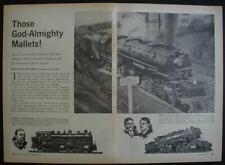 MALLET Locomotive Illustrated Graphic Pictorial Tribute