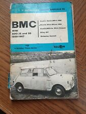 BMC MINI ADO 15 & ADO 50 P. Olyslager Motor Manuals Handbook 1959-1967