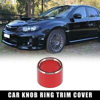 Car Rear Mirrors Switch Knob Ring Trim Cover for Subaru WRX STI Forester Red