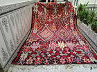 1955 Moroccan Vintage Handmade Azilal Berber Rug Beni Ourain Tribal Carpet