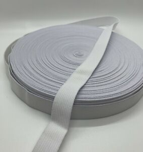 Flat Ribbon Sewing Elastic Bands 3 Yards for Waistband Pants Bags Headband Cloth DIY Craft Fabric Garment Accessory Sewing Supplies White, 1 1//2 Inch