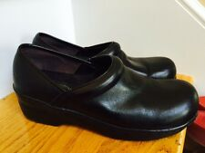 Spring Step Clogs Size 7M Black Leather Excellent Condition Work Slip On