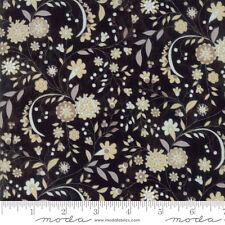 By 1/2 Yard ~ Moda Fabric BasicGrey Maven Delicate Floral in Onyx ~ Basic Grey
