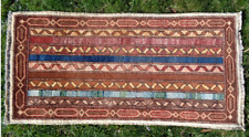 Indoor Mat Carpet Afghan Persian Handmade knotted Rug Morocco indian 50x103 cm