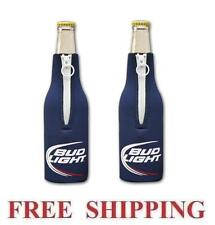 Bud Light 2 Bottle Cooler Coozie Coolie Koozie Huggie New Budweiser