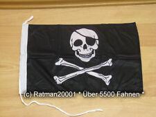 Fahnen Flagge Pirat Augen Klappe Bootsfahne Tischwimpel - 30 x 45 cm