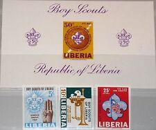 LIBERIA 1965 627-29 B Block 32 B 421-22 C164 Boy Scouts Pfadfinder Flag MNH