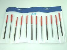 Needle File Set of 12 in Plastic Carry Pouch Jewelry Hobby Craft