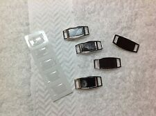5 Blank Rectangle Paracord Shoelace Charms with Epoxy Resin Dome Stickers