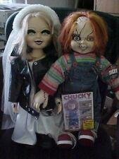 "CHUCKY & TIFFANY BRIDE OF CHUCKY WITH DVD MOVIE 24"" DOLLS"