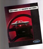 1983 Ford LTD CROWN VICTORIA Brochure / Catalog with Spec's: Squire Wagon,