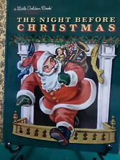 THE NIGHT BEFORE CHRISTMAS Classic Little Golden Book 1976 Reprint New York VGC