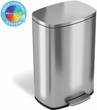 SoftStep Stainless Steel Step 13.2 Gallon Trash Can w/ Odor Filter Free Shipping
