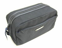 GIVENCHY PARFUMS MENS BLACK TOILETRY BAG WASH TRAVEL BEAUTY WEEKEND CASE *NEW