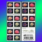 20 Water Lilies Forever Stamps Booklet USPS Postage Flowers Stamp Purple Lilly