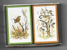 VINTAGE CONGRESS  BIRDS Cel-U-Tone PLAYING CARDS 2 DECKS IN VELVET BOX