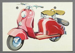 Ansichtskarte NSU Lambretta 1954 altes Original
