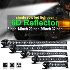 7/14/20/26/32/38/44/50 Single Row Slim LED Work Light Bar for Car Off road Truck