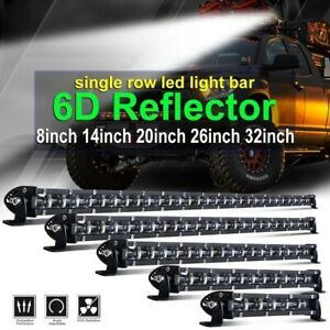 7/14/20/26/32/38/44/50 Single Row Slim LED Work Light Bar for Car Off road Truck