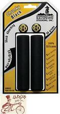ESI CHUNKY 100% SILICONE 32MM SHOCK ABSORBING BLACK BICYCLE GRIPS