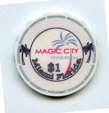 1.00 Casino Chip from the Magic City Casino Miami Florida