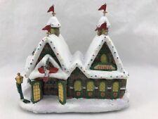 "miniature  ""North Pole Reindeer Stables"" with Hawthorne Village Thomas Kinkade"
