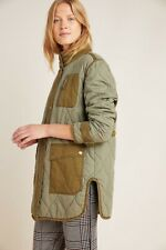 BNWT Anthropologie quilted liner field jacket green size 8 small